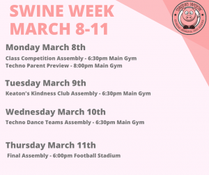 swine week schedule